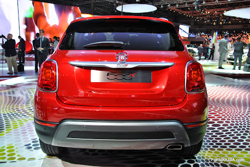 Fiat 500X Back View