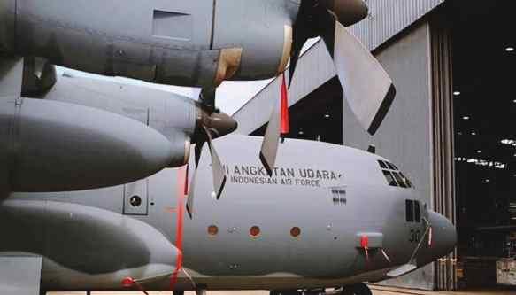 Gambar profil pesawat Hercules C-130 yang jatuh di Medan Sumatera Utara