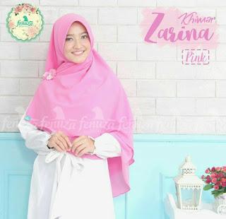 Khimar Fenuza Zarina Np Pink