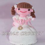 patron gratis muñeca comunion amigurumi