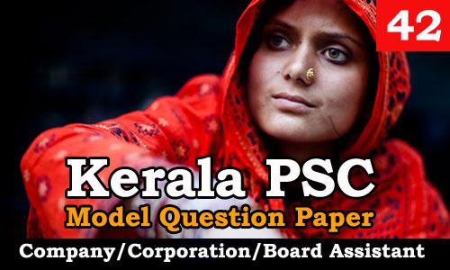 Model Question Paper Company Corporation Board Assistant - 42
