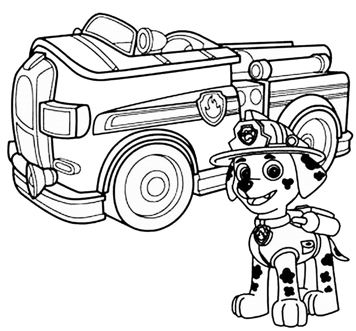 Paw Patrol Car Coloring Pages : Free nick jr paw patrol coloring pages