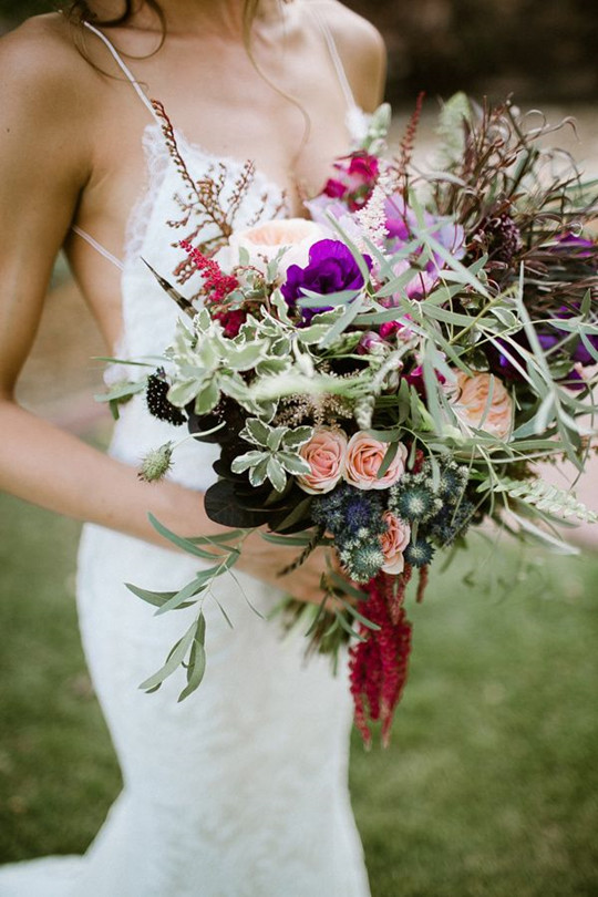 Dreamy And perfect Bohemian rose Wedding Bouquets
