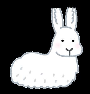 ホッキョクウサギのイラスト(座っている)