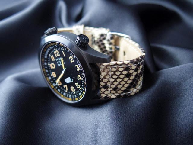 モレラートのパイソン腕時計ベルト