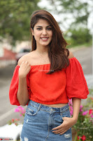 Rhea Chakraborty in Red Crop Top and Denim Shorts Spicy Pics ~  Exclusive 165.JPG