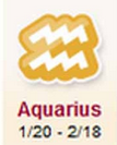 zodiak aquarius hari ini