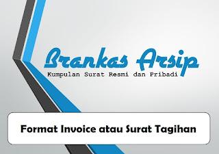 logo postingan contoh dan format surat tagihan atau invoice