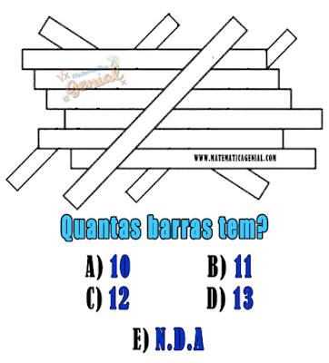 Teste de visão - Quantas barras tem?
