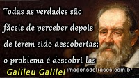 Pensamentos e Frases de Galileu Galilei