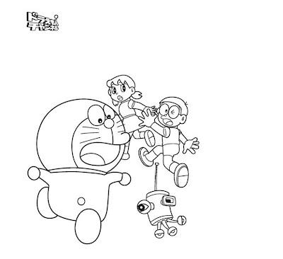 Coloring Pages Doraemon Nobita
