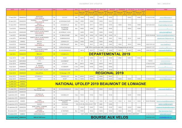Calendrier Ufolep 2019 Cyclisme.Club Cycliste De Baillet En France Www Ccbaillet Com