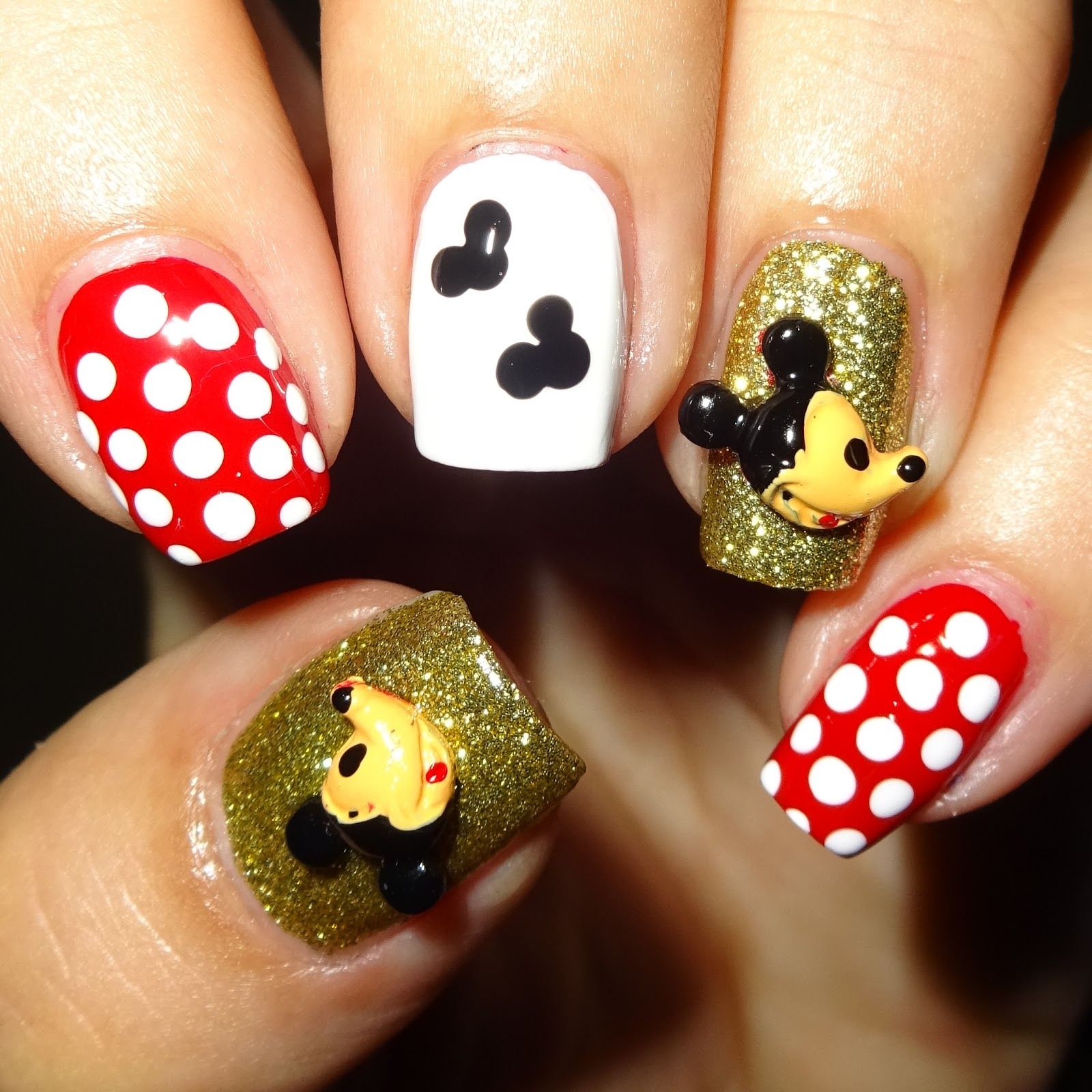 Wendy 39 s delights mickey mouse 3d nail decorations from for 3d nail art decoration