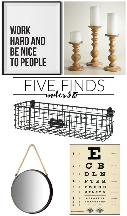 Five awesome home decor finds under $25! www.littlehouseoffour.com