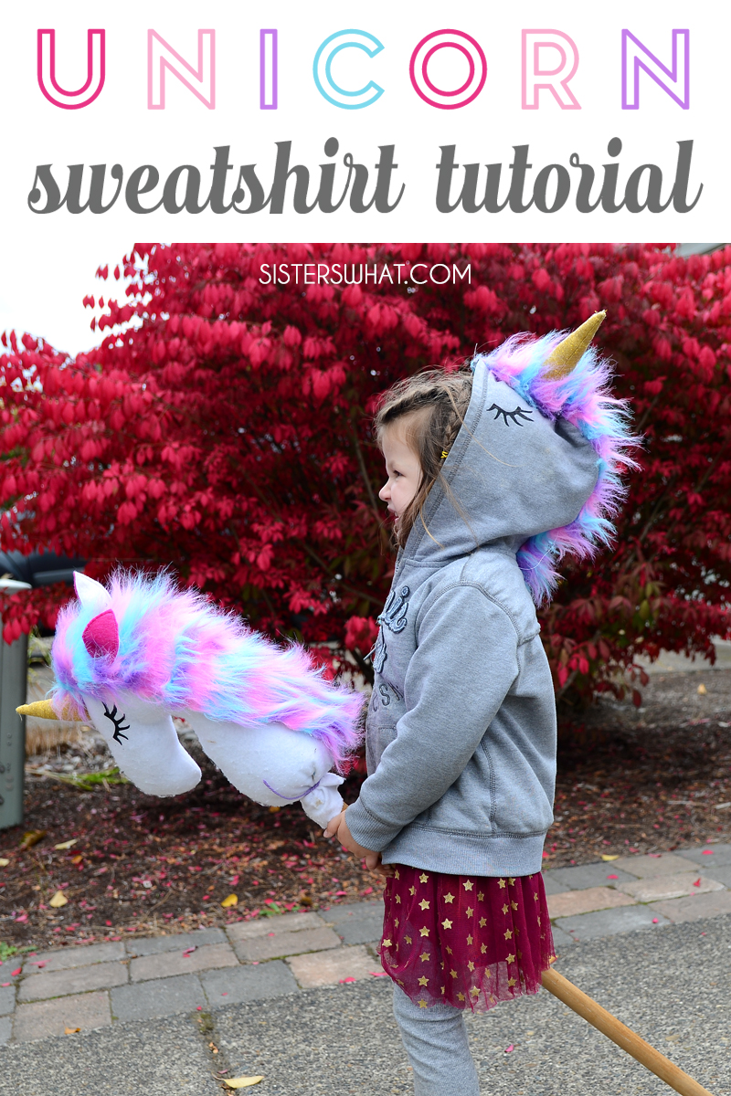 an easy unicorn sweatshirt refashion costume