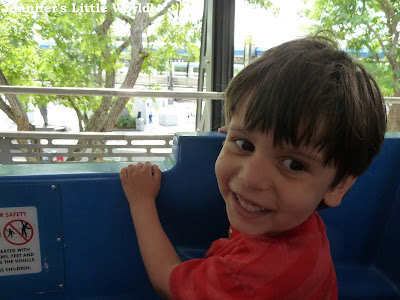 Small boy on the People Mover, Walt DisneyWorld