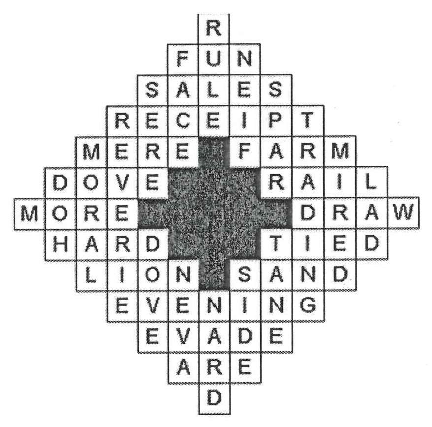 Massanutten Musings: Crossword Puzzles