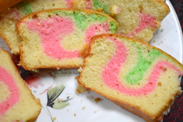 bakey syle ribbon cake