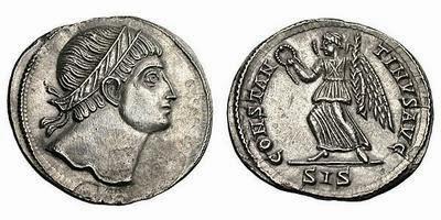 Constantino I Siliqua Plata
