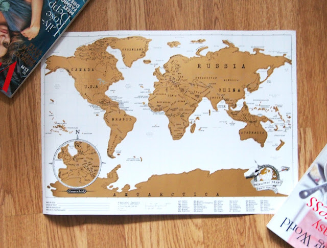 Full view of world map