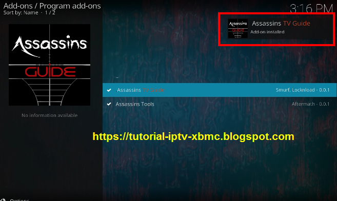Assassins TV Guide Addon Kodi Repository - New Kodi Addons Builds 2019