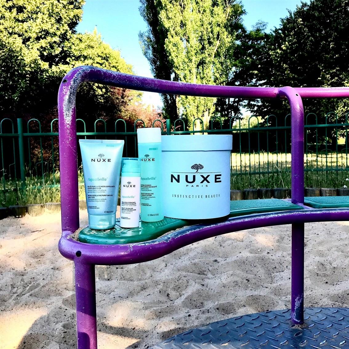 zdjęcie kosmetyków Nuxe Aquabella