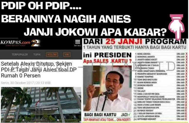 CIEEEE,,Alexis Tak Istimewa, Sekjen PDI P Tagih Rumah DP 0, Netizen: NGACA WOY! Janji Kampanye Jokowi Gimana?