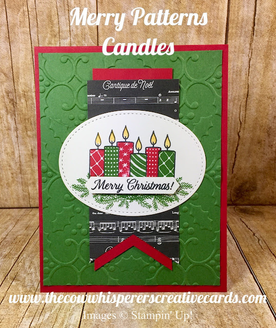 Merry Patterns, Christmas Card, Candles, Stampin Up