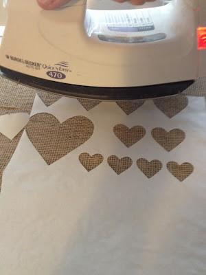 Freezer paper, stencil, Silhouette tutorial, heart