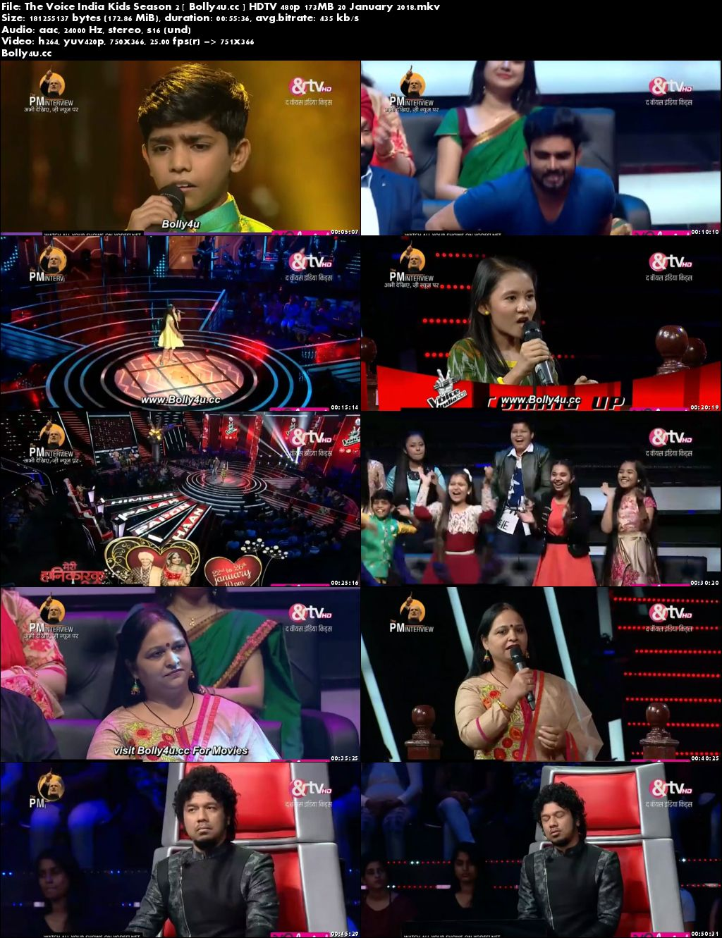 The Voice India Kids Season 2 HDTV 480p 170MB 20 January 2018 Download