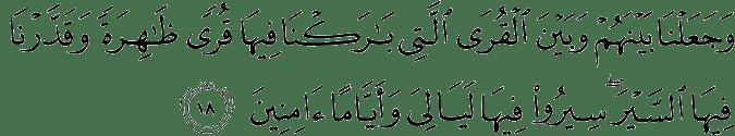Surat Saba' Ayat 18