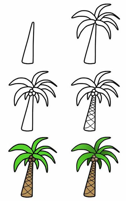 كيفية رسم شجرة بالقلم الرصاص