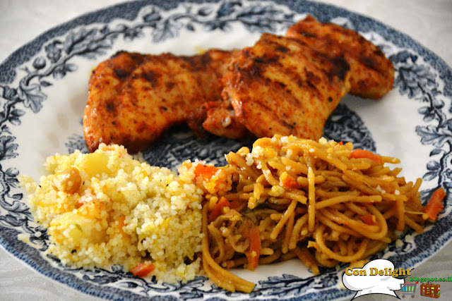 noodles couscous and chicken