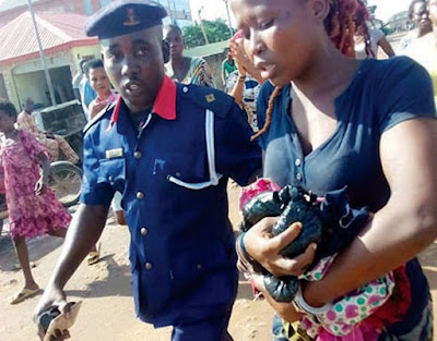 Female Kidnapper Rescued From Being Lynched (Photo)