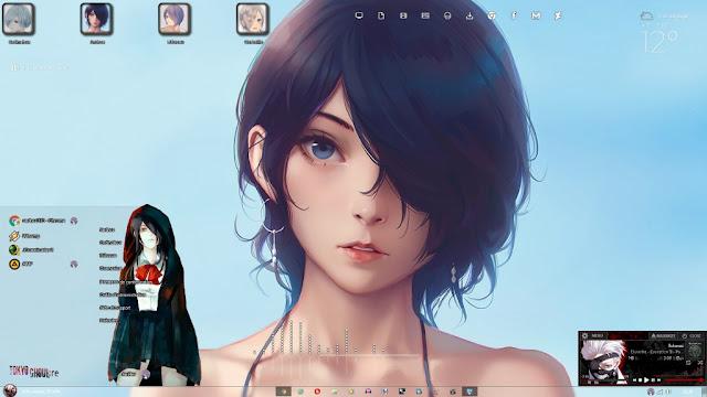 Windows 7 Theme Kirishima Touka V2 by Andrea_37