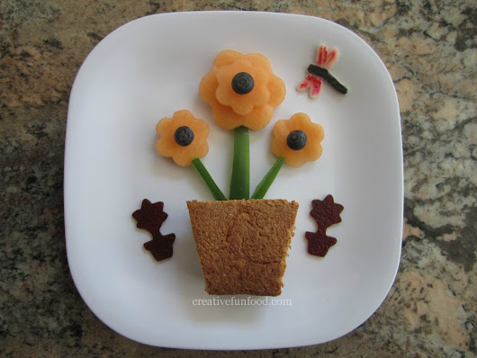 Creative Food: Flower Pot Lunch