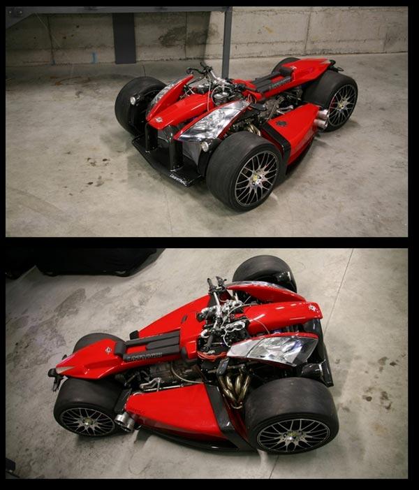 Ferrari Motorcycles: Auto: Lazareth Wazuma V8 :motorcycle Of Ferrari Engine