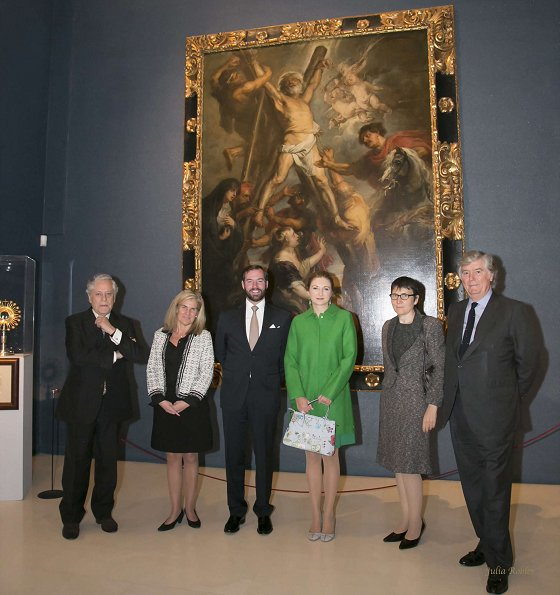 Hereditary Grand Duchess Stephanie, Hereditary Grand Duke Guillaume visited Carlos de Amberes Foundation in Madrid