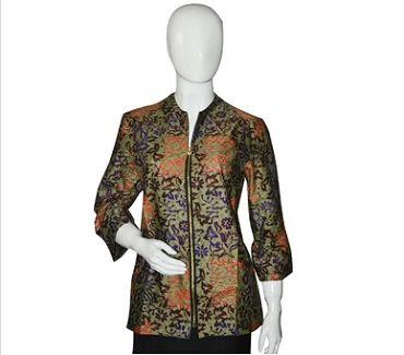 Model Seragam Batik Guru Wanita Modern