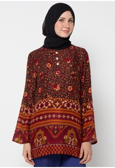 Model Baju Batik Kantor Wanita Berjilbab yang Unik