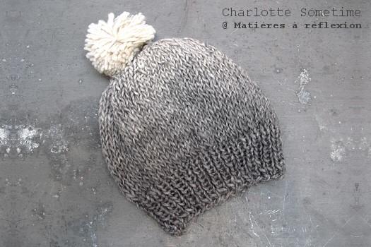 SOLDES Bonnet taupe Charlotte Sometime