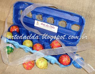 cartela de ovos na Páscoa