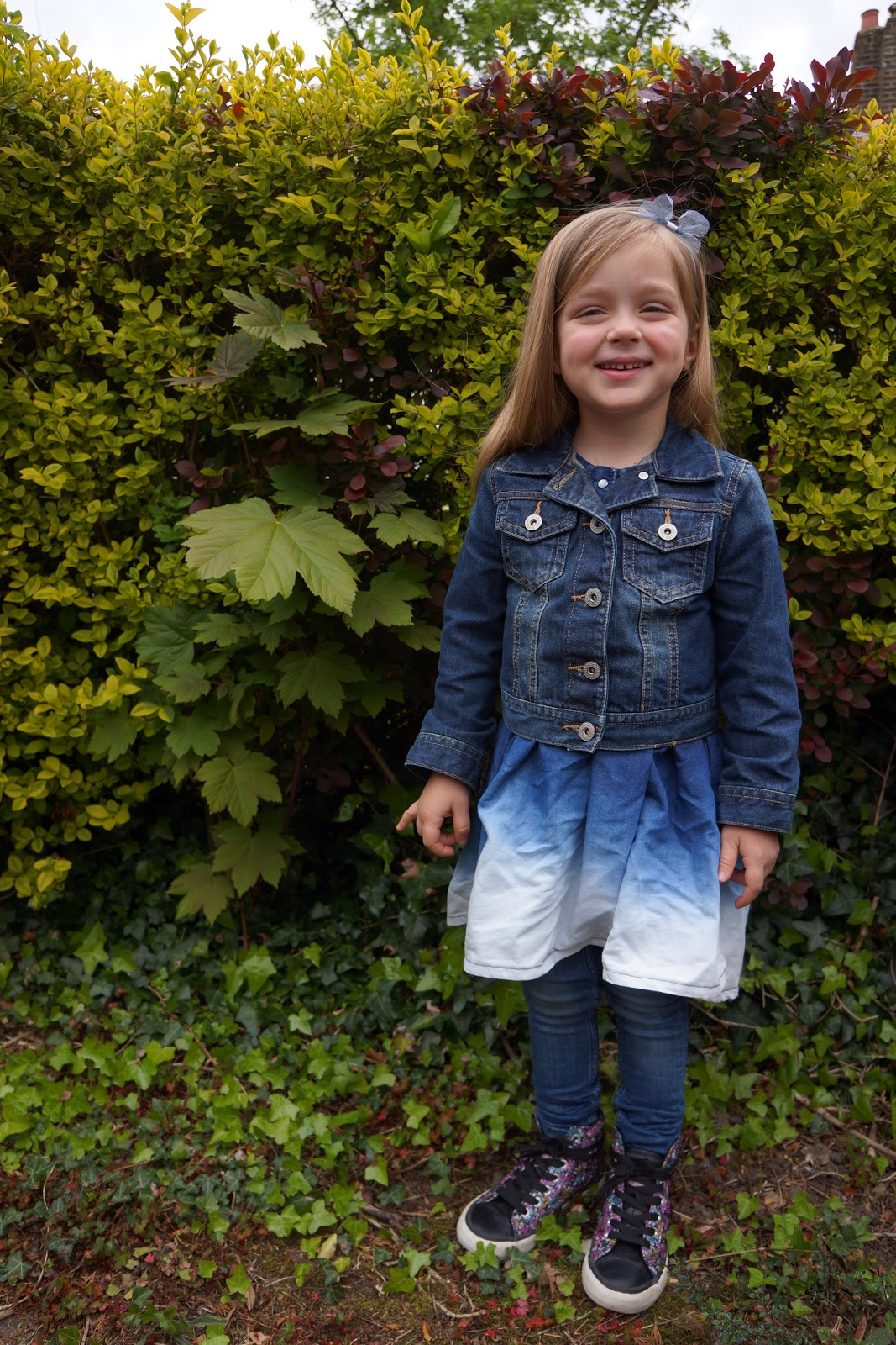 Triple (not just double) denim: kids outfit of the day | Wave to Mummy