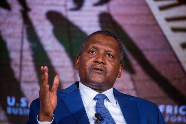 Dangote named one of Bloomberg's 50 Most Influential People