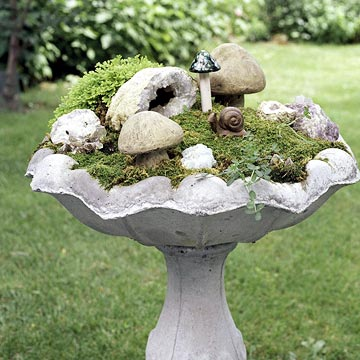 Dishfunctional Designs: New Uses For Old Bird Baths