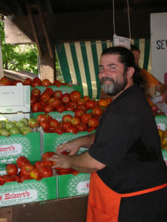 Craig Sanders from CJ's Produce at the Kirkwood Farmers Market in St. Louis, Missouri ♥ KitchenParade.com