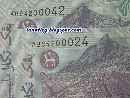 Malaysia Fancy Number Banknote | Lunaticg Coin