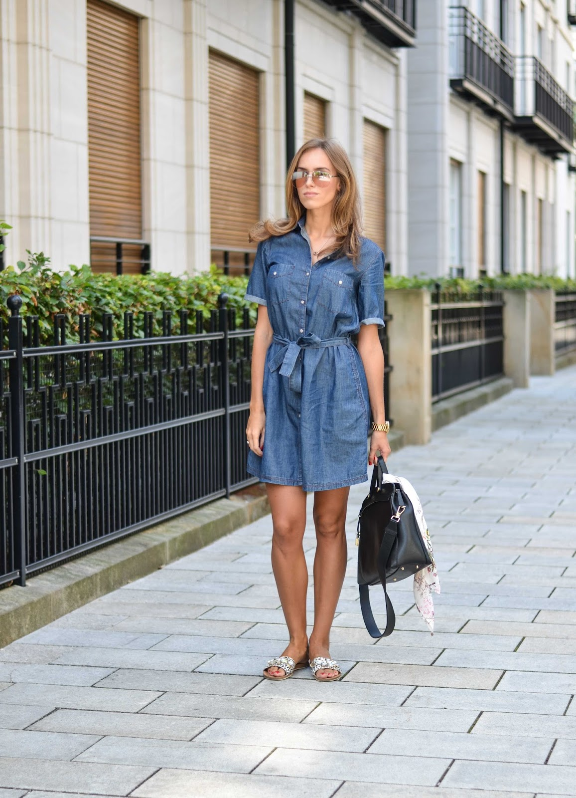 kristjaana mere lindex denim dress fall outfit fashion blogger munich
