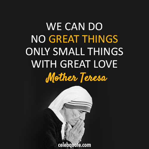 Quote From Mother Teresa: My New Blog