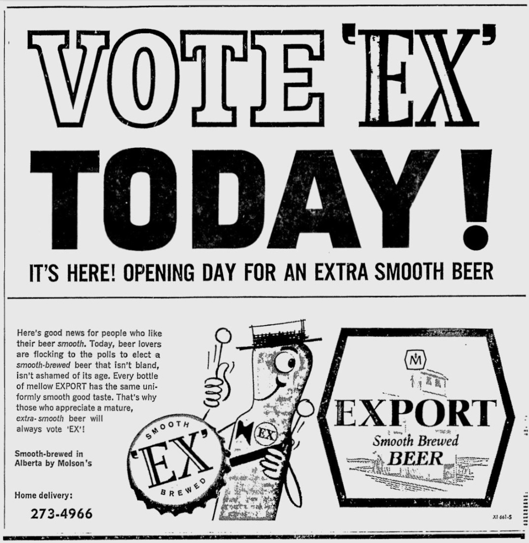 wiring diagram database  old beer ads molson export newspaper ad